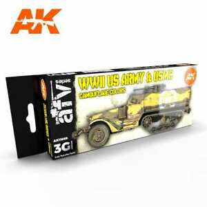 AK Interactive GEN 3 - WWII US ARMY AND USMC CAMOUFLAGE COLORS