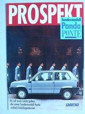 Prospekt Fiat Panda Sonderserie Ponte, 12.1988, 4 Seiten