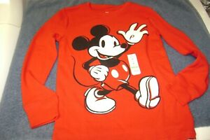 MICKEY MOUSE  THERMAL LONG SLEEVE  SHIRT  SIZE  7  BOY OR GIRL   NEW  DISNEY