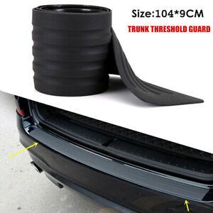 1×Car Anti-scrape Rubber Sill Plate Rear Bumper Guard Protector Pad Decor Cover