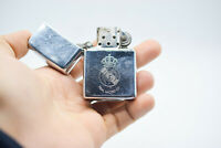 Zippo 1994 Real Madrid Lighter Emblem Vintage Engraved Rare Chrome Cigarette