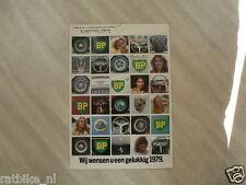 1979 BP HARTHOLT CALENDER,JAGUAR,MASERATI,PORSCHE,FERRA