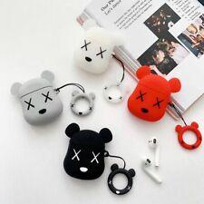 Silicone Cover Airpod Case Cute Cartoon Bear Charging Box Earphone Accessories