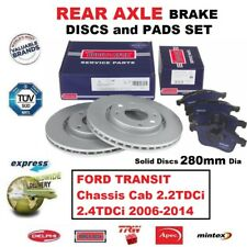 REAR BRAKE PADS + DISCS for FORD TRANSIT Chassis Cab 2.2TDCi 2.4TDCi 2006-2014