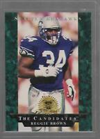 1996 Collector's Edge President's Reserve #LS28 Reggie Brown Seattle Seahawks