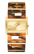 GUESS W13084L1 G STATUS Damenuhr Armband Hornoptik gold