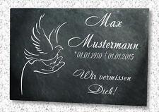 Grabstein Gedenktafel Grabplatte Urnengrab Tiergrabstein Gedenkplatte HT 22x16cm