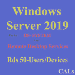 New Remote Desktop Services - RDS Server2019 Datacenter/Standard User/Devices