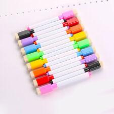 8 Colors Set Magnetic White Board Marker Pens With Dry Erase Eraser School
