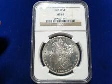 1885-O US Morgan Silver Dollar $1 BU Coin - NGC MS65
