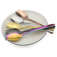 3p Spork Spoon Fork Cutlery Set 304 Stainless Steel Utensil Outdoor Picnic Tools