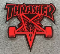 Thrasher SKATE GOAT Skateboard Sticker 4in red si