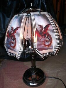 Touch Lamp Dragon Red Dragon works!
