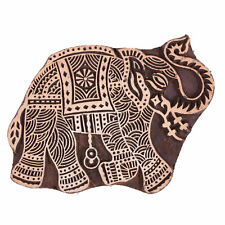 Wooden Elephant Shape Indian Printing Stamp Hand Carved Blocks (6X4)-Inch