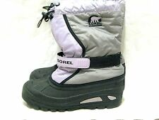 YOUTH SOREL FLURRY SNOW BOOTS NO LINING SZ 6