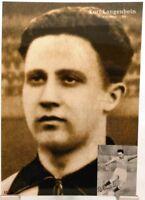 Kurt Langenbein Mannheim Fußball Nationalspieler DFB + Fan Big Card Edition B575