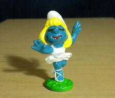 Smurfette Dancing Ballerina W Berrie Vintage Smurfs Figurine Toy Smurf Lot 20098