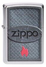 ZIPPO Feuerzeug ZIPPO LOGO Metall Optik Katalog 2014 Zippo Flamme NEU OVP