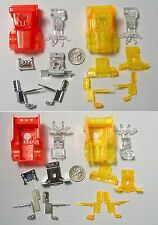 2 Tyco Peterbilt Semi Tractor Neon Orange & Red Factory Test Shot Slot Car Bodys