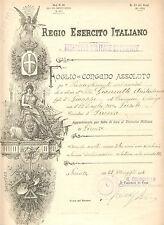 017 Foglio di Congedo Assoluto - Regio Esercito Italiano 1916
