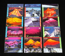 U.N. 2002,YEAR OF THE MOUNTAINS STRIPS OF 4, ALL 3 OFFICES, MNH,  NICE!! LQQK!!!