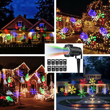 Christmas Laser Projector Light LED 10Gobos Garden House Snow Star Party Outdoor