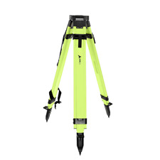 High Visibility Green Heavy-Duty Aluminum Survey Construction Tripod with Quick