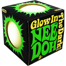 Schylling The Groovy Glowing Glob Glow in The Dark Nee Doh Green Color Stress Ball