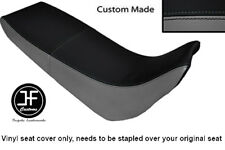 BLACK & GREY VINYL CUSTOM MADE FITS YAMAHA XT 600 E 96-04 DUAL SEAT COVER ONLY