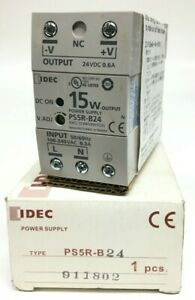 IDEC PS5R-B24 Switching Power Supply Output-24VDC 15W 0.6A Input-100-240VAC 0.3A