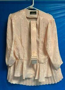 vintage XL Alexis pink suit Blouse & Skirt Set
