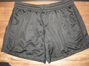 NEW Nike Fit Dry Athletic Black Mesh Shorts Womens Size Medium NWOT