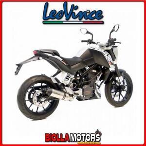 8725 SCARICO LEOVINCE KTM DUKE 125 2011-2016 LV ONE INOX/INOX DARK