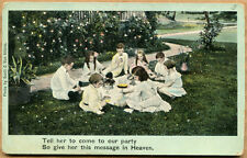 TELL HER TO COME TO OUR PARTY Post Card  - German - Photo by Altena - Unused
