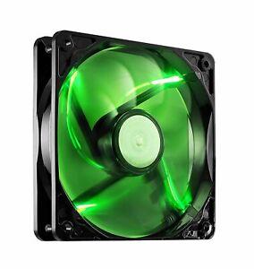 2 x Pack of CoolerMaster SickleFlow 120mm Silent Green LED Case Fan