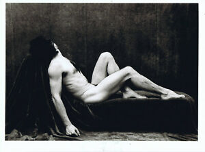 Male nude original signed photograph by Naomi Stanley 1985