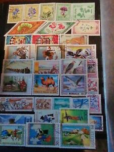 MONGOLIA 🇲🇳 LOT OF USED  STAMPS