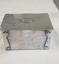More details for antique hand beaten metal manikin cigar box