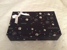 Chanel Gift Box Empty Big Collectors Unique Rare Camellia Black Red Stars Ribbon