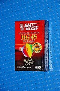 VHS-C EMTEC/ BASF HG 45 min. STANDARD MASTER. PAL / SECAM - NEW (1)