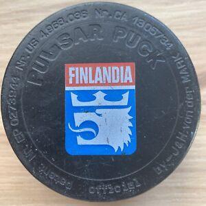 FINLANDIA HOCKEY PUCK 🇫🇮 FINLAND PULSAR PUCK VALIO International Hockey