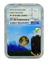 2015 W $5 Gold Eagle NGC PF70 Ultra Cameo Early Releases - Eagle Core