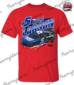 Men's Kyle Larson Red #5 Rancing Nascar 2021 T-Shirt For Fan S-4XL