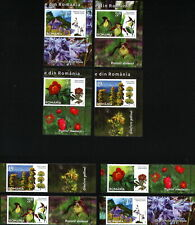 8 STAMP+8 Vignettes HORIZONTAL AND VERTICAL=2 FULL SET/ROMANIA 2020 FLOWERS MNH