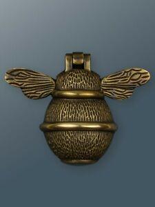 Brass Bee Door Knocker - Bronze Finish - Solid Brass Bumble Bee Door Knocker