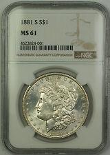 1881-S Morgan Silver Dollar $1 NGC MS-61 (Better Coin) (15)