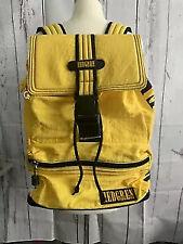 Vtg Hedgren Backpack Unisex Yellow Black Nylon