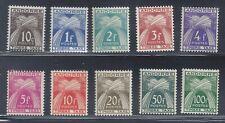 Fr. Andorra 1946-53 #J32-41, Postage Dues, Mint, Very light Hinge