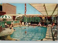 CA. 1950's Laguna Riviera Hotel Apartments Laguna Beach Postcard AAA Pool  View