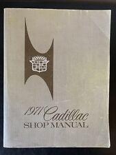 1971 CADILLAC Fleetwood Eldorado Calais Etc. Original Shop Service Manual